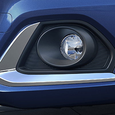 Fog Lamps With Bold Chrome Accents